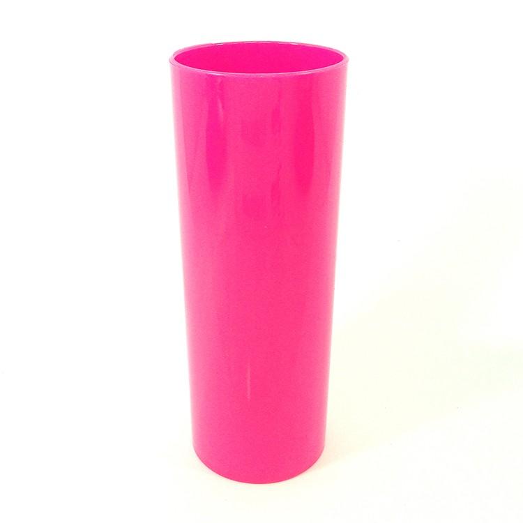 Long Drink 350 Rosa Fluor Solido