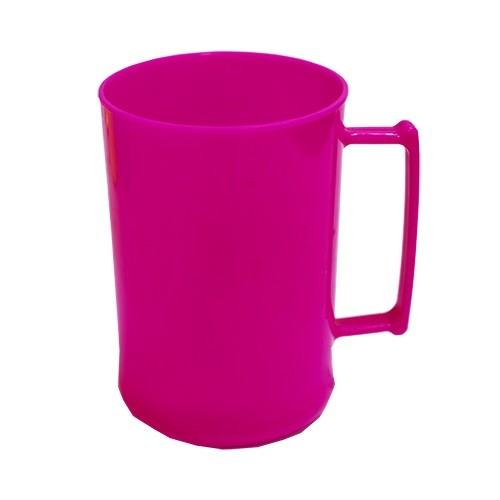Caneca 450 Luxo Rosa Fluor Solida